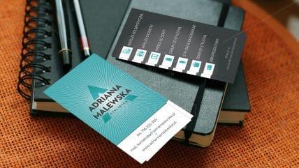 Projekt wizytówki Adrianna Malewska