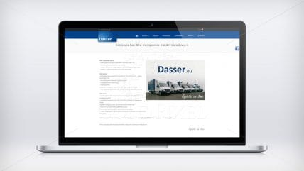 Projekt strony Dasser