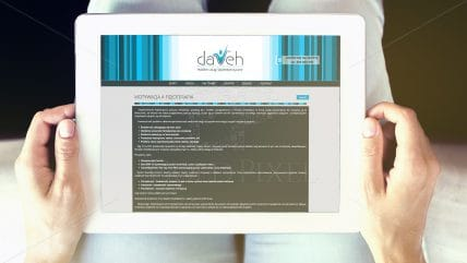 Projekt strony Dareh
