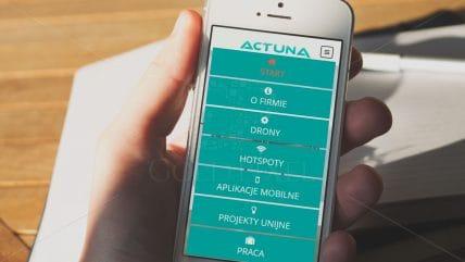 Projekt strony Actuna