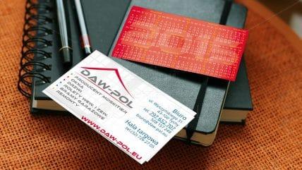Projekt wizytówki Daw-Pol