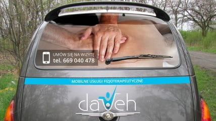Reklama na samochód Dareh