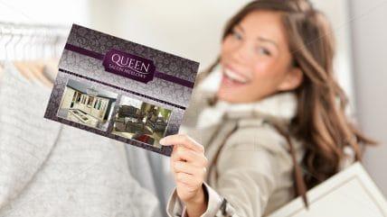 Projekt ulotki Queen Meble
